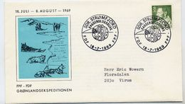 GREENLAND 1969 King Frederik IX Definitive 30 Øre On Cover With Greenland Expedition Commemorative Postmark. Michel 71 - Greenland