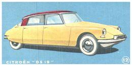 """(Tapp  1)  Buvard  ( Morceau De Buvard """"Biscottes Heudebert"""") Citroën """"D S 19""""   (Format 7 X 14.5) - Transport"""