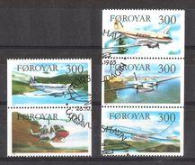 Faroe Islands 1985 Aircrafts, Planes, Mi 125-129 Cancelled(o) - Faeroër