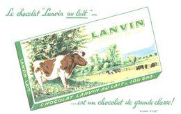 (Tapp  1)  Buvard Chocolat Lanvin   (Format 21 X 13.5) - Cocoa & Chocolat