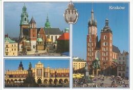 Vues De Cracovie Et Ses Monuments, Cathédrale Du Wavel,etc., Carte Postale Neuve Non Circulée - Polen