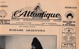 L'Atlantique Journal Quotidien Paquebot CGT 02.1928 - Français & Espagnol - Actualités Par TSF - Maritime & Navigational