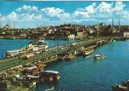Istanbul-Turkey.  The Galata Bridge. Sent To Denmark. A-1577 - Turkey