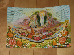 Religion - Carte Pup-up Theme: Apparition à Ste Bernadette Soubirous à Lourdes, Carte Ouvrante, 3 Scans - Religion & Esotericism