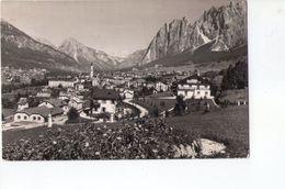 U1090 Cartolina Piccola CORTINA, COL ROSè + TARGHETTA STORIA POSTALE: STAGIONE INVERNALE 1954, NICE STAMP - Italia