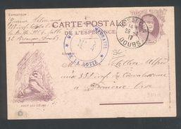 Carte Postale De L'espérance - Hôpital Temporaire N° 4 De La Butte  Besançon 25 1 1917 - Marcofilie (Brieven)