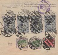 DR Infla  1921 Paketkarte  Chemnitz  Paris 86,40DM PK1 - Germany