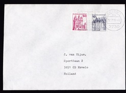 Germany: Cover To Netherlands, 1980, 2 Booklet Stamps, Castle (traces Of Use) - [7] West-Duitsland