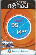 FR.- CARTE NOMAD. Recharge NOMAD OU SPOT. Bouygues Telecom. 2 Scans - Frankrijk
