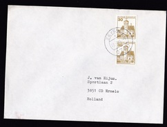 Germany: Cover To Netherlands, 1980, Pair Of 2 Booklet Stamps, Castle (traces Of Use) - Brieven En Documenten