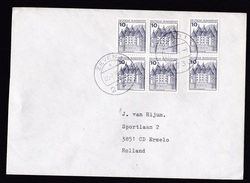 Germany: Cover To Netherlands, 1980, 6 Booklet Stamps, Castle (traces Of Use) - [7] West-Duitsland
