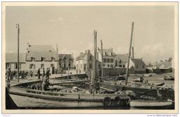 SAINT GUENOLE (finistère) -Le Port ,bateaux De Pêche En 1938 ; Photo Format 13,5x8,7cm. - Lieux