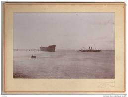 """SAINT NAZAIRE   BATEAU """" La Lorraine""""(aprés Son Lancement En 1899) De La Compagnie Générale Transatlantique - Bateaux"""