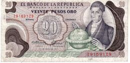Colombia P.409 20 Pesos 1973  Xf - Colombia