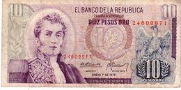 Colombia P.476 10 Pesos 1978 Vf - Colombia