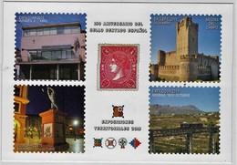 A.2. España. Tarjeta Prefranqueada. EP Exposiciones Territoriales. Benissa. Reverso Matasellos Exposición Benissa 2015 - 1931-....