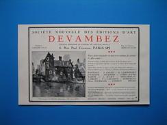 (1931) Société Nouvelle Des Éditions D'Art DEVAMBEZ Rue Paul Cézanne à Paris -- Gravures, Dessins PAUL PROUTÉ à Paris - Vieux Papiers