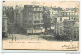 LIEGE  -  Rue De Bex, Place Saint Lambert.(carte Vendue En L'état). - Liege