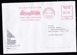Germany: Cover, 1996, Meter Cancel, Municipality Oberhausen, 'City Of Short Movies', Film, Cinema (traces Of Use) - [7] République Fédérale