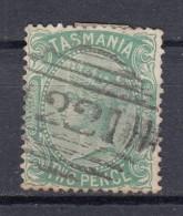 "Tasmania 2 P Victoria 1878 - ""Tasmania"" Ovaler Balken-Stempel O - 1853-1912 Tasmania"
