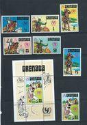 Grenada 1972 Unicef Set 7 & Miniature Sheet MNH - Grenada (...-1974)