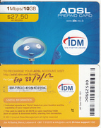 LEBANON - IDM Internet Prepaid Card $27.50(large Barcode), No Exp.date, Used - Libanon