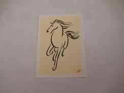 Cheval   ( Dessin D'un Cheval Par Claude Henri Saunier    ( Neuve ) - Horses