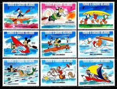 Turks & Caicos Islands    1984 Los Angeles Olympics Disney       Se T  SC # 619-27 Mint - Turks And Caicos