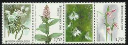 Korea 2001 Orchids 1st Series Set Of 4 In Strip MNH - Corée Du Sud