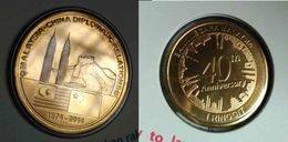 Malaysia China 2014 40th Diplomatic Relations -1  Ringgit Cards Coin Commemorative Nordic Gold BU 1 Ringgit Coin - Malaysia