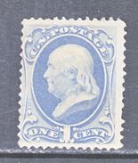 U.S. 156    *  WHITE  WOVE  PAPER  PERF. 12   1873 Issue - Unused Stamps