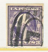U.S. 345    (o)   IMPERF.   1908  Issue - Used Stamps