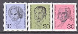 GERMANY  1014-16   **  MUSIC  BEEHOVEN, PHILOSPHER,  POET - [7] Federal Republic