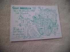 2E  SALON DE LA CARTE POSTALE ..SAINT MARCELLIN 1987 ...SIGNE FARABOZ - Bourses & Salons De Collections
