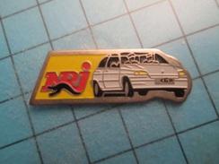 Pin512c Pin's Pins : Rare Et Belle Qualité : RADIO NRJ RENAULT CLIO ; - Rallye