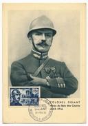 FRANCE => CARTE MAXIMUM => COLONEL DRIANT - Février 1956 (Premier Jour) Neufchatel S/Aisne - 1950-59