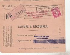 SEMEUSE 1F10 YT 238 PERFORE S.A  -AIGLE CAPITALISATION DT VALEURS A RECOUVRER PARIS 2/4/10 MONTIER EN DER-       TDA233A - Marcophilie (Lettres)