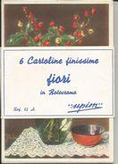 6 CART. FINISSIME FIORI IN ROTOCROMO UPIN REF. 82 A  (934) - Cartoline