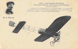 Les Oiseaux De France - Monoplan Blériot, Piloté Par Louis Kuhling (en Médaillon) - Edition J. Hauser - ....-1914: Précurseurs
