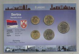 Monnaie , SERBIA , SERBIE ,  Trésor Du Patrimoine, UNC , SET DE 5 PIECES , 2 Scans,  Frais Fr : 2.70 E - Serbie