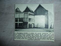 Origineel Knipsel ( 1117 ) Uit Tijdschrift  :  Wevelghem  Wevelgem  Brand  Incendie 1934 - Vieux Papiers