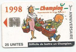 Madagascar Malagasy  Madagaskar TC Publicité Réf Catalogue P1 Supermarché CHAMPION 1998 - Madagascar