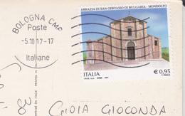 CP 2017 STORIA POSTALE ABBAZIA SAN GERVASO DA BOLOGNA DI RAVENNA - 6. 1946-.. Repubblica