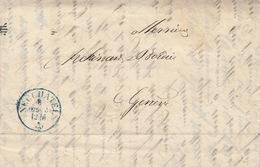 Lettre Neuchâtel - Genève 1855, Avec Cachet D'arrivée. Voir Contenu, Maison Bordier - Switzerland