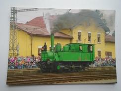 D156252  Train Railway Rail - ZVOLEN   Station - Railway  Engine   Show - Treni