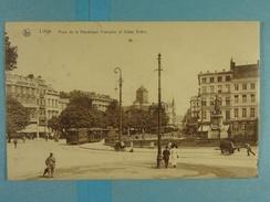 Liège Place De La République Française Et Statue Grétry - Liege