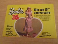 16e ANNIVERSAIRE DE LA  POUPEE BARBIE Pour  Collectionneurs ... PUBLICITE MATTEL Page De Revue Des Années 70 - Barbie