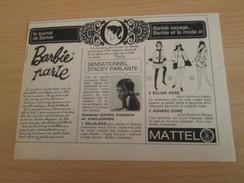 BARBIE PARLE  Pour  Collectionneurs ... PUBLICITE MATTEL Page De Revue Des Années 70 - Barbie