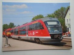 D156263 Train Railway Rail - Siemens Desiro Diesel-Electric Railcar Of Hungarian Railways (MAV-START) SZÉCSÉNY Station - Treni