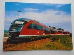 D156264 Train Railway Rail - Siemens Desiro Diesel-Electric Railcar Of Hungarian Railways (MAV) Pilisvörösvár Station - Treni